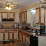 Maple and birch Shaker style kitchen cabinets after