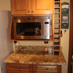 Oak and mappa burl kitchen after