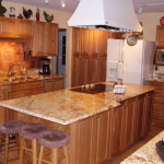 Oak and burl kitchen AFTER